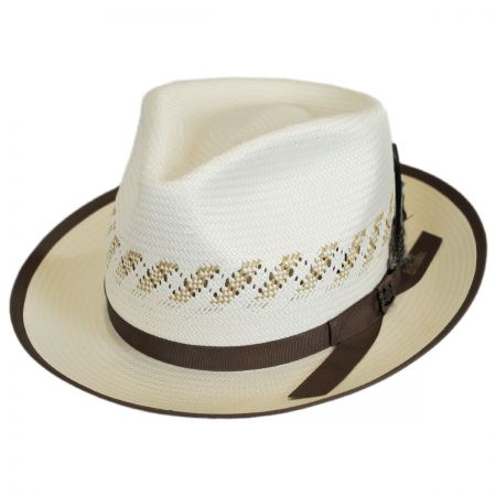 Biltmore Viceroy Vent Shantung Straw Fedora Hat