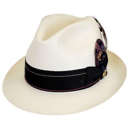 1917 Extra Fine Shantung Straw Fedora Hat alternate view 5