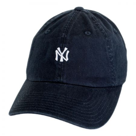 American Needle New York Yankees MLB Micro Logo Strapback Baseball Cap