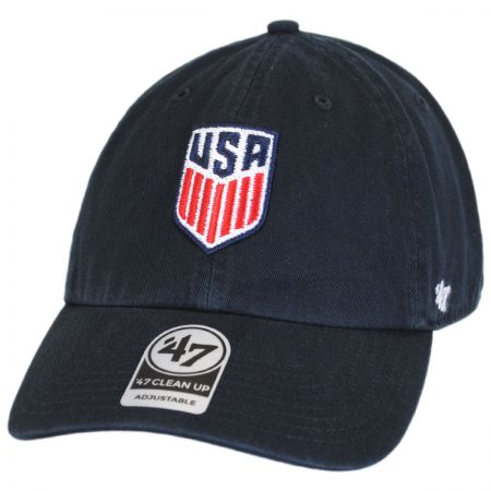 US Soccer Clean Up Strapback Baseball Cap Dad Hat alternate view 1
