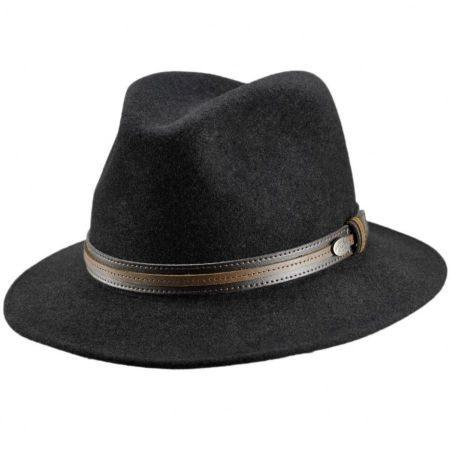 Bailey Brandt Wool Felt Safari Fedora Hat