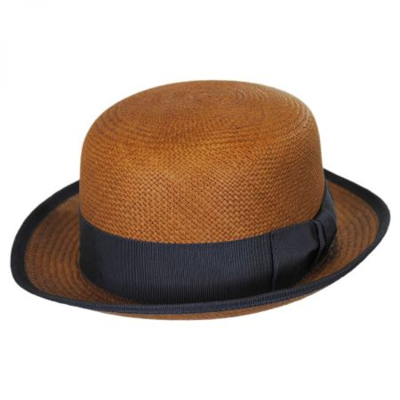 Chaplin Panama Straw Bowler Hat alternate view 2