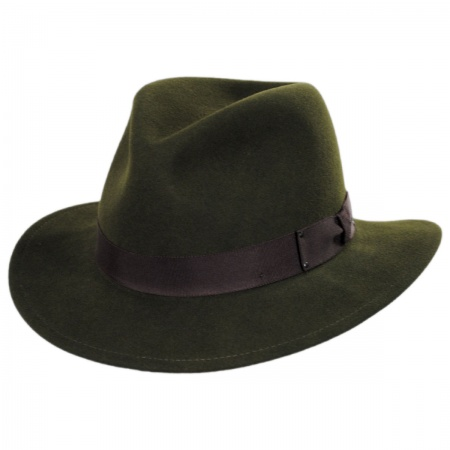 e566be345 Curtis Wool Felt Safari Fedora Hat
