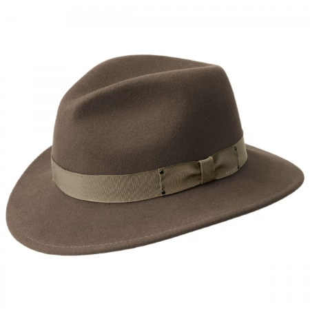 Curtis Wool Felt Safari Fedora Hat alternate view 12