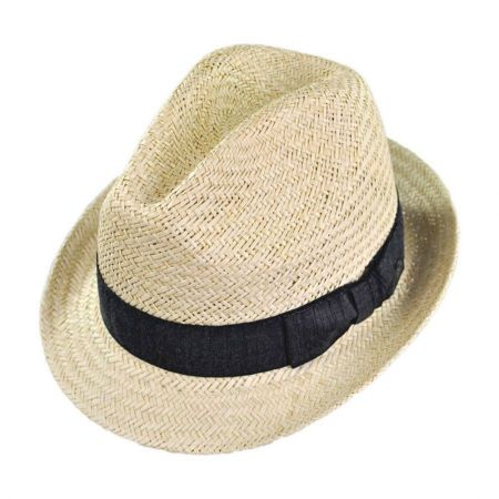 Bailey Fernales Palm Straw Trilby Fedora Hat