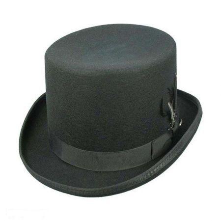 by jdon-hats, Fedora Hat Mens Fedora Wide Brim Classic Winter Black Male Pork Pie Hat Felt Hats