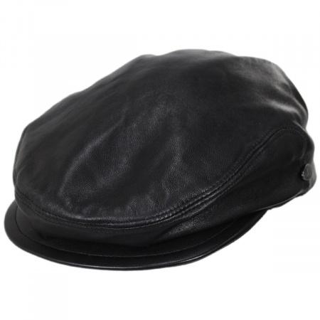 Leather Driving Cap at Village Hat Shop 4ec7bc7bbcf