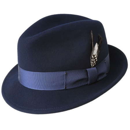 Navy Trilby at Village Hat Shop a1c0f68b6c1