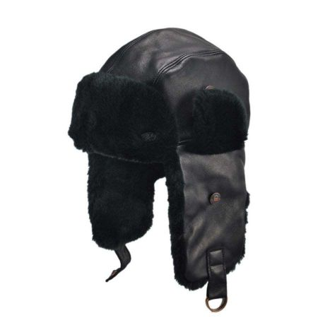 Bailey Vega Leather Trapper Hat