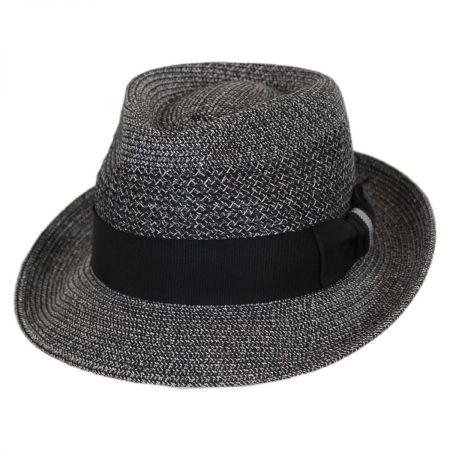 612149bc8d37f Bailey Wilshire Toyo Braid Straw Fedora Hat Straw Fedoras