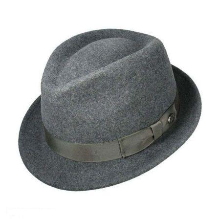 1a1e3aeba57966 Grey Felt Fedora at Village Hat Shop