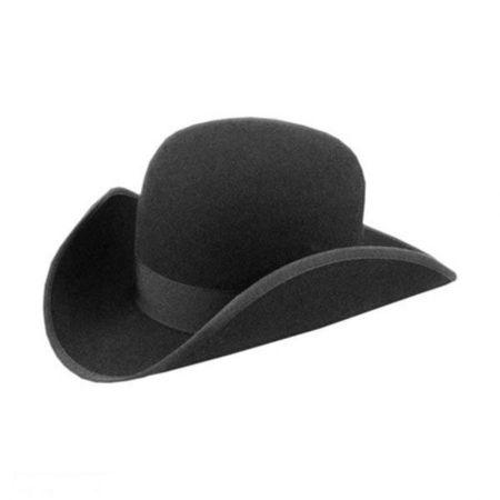 140 - 1860s Wide Awake Wool Felt Hat