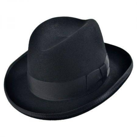 Homburg Hat Black at Village Hat Shop 4461255a6