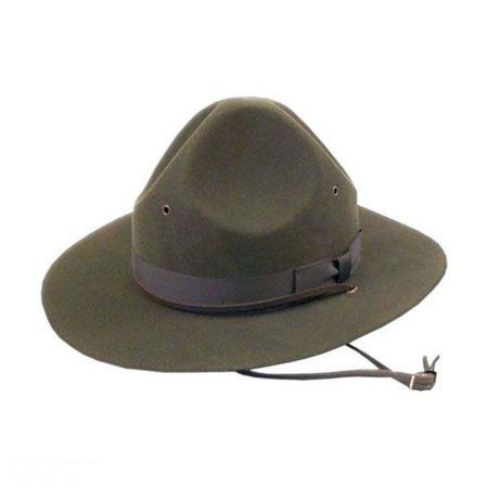 Bollman Hat Company 140 - 1910s Montana Peak Campaign Wool Felt Hat