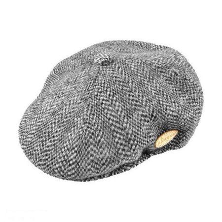 Kangol Herringbone Wool Blend Ivy Cap