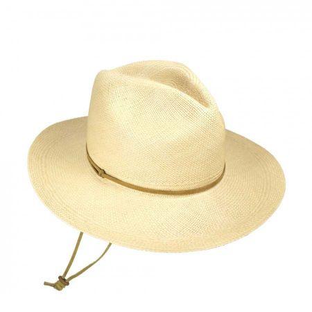Pantropic Explorer Panama Straw Fedora Hat - Made to Order