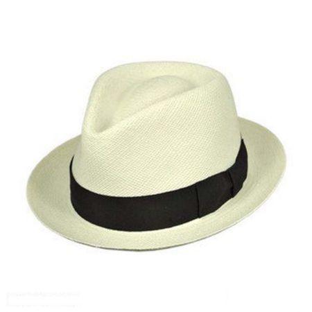 Pantropic Havana Panama Straw Fedora Hat