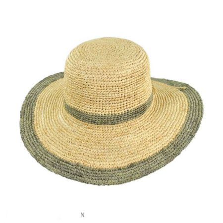 Pantropic Margate Raffia Floppy Sun Hat
