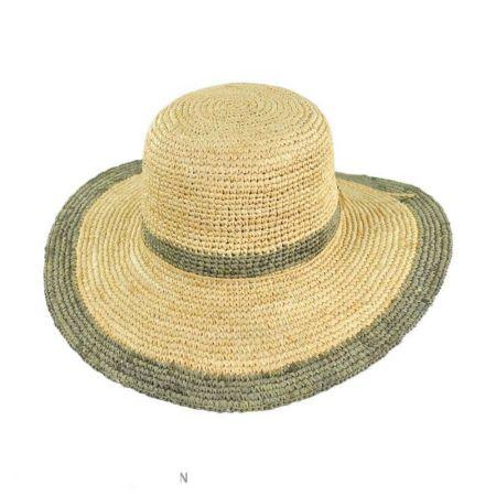 Pantropic Margate Raffia Straw Floppy Sun Hat