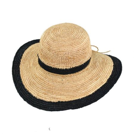 Pantropic Margate Raffia Straw Floppy Sun Hat