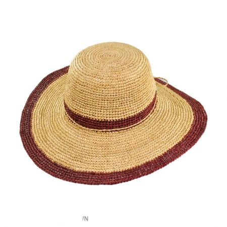 Margate Raffia Straw Floppy Sun Hat alternate view 6