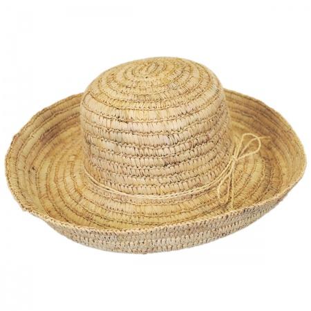 Pantropic Sonoma Raffia Straw Crusher Hat