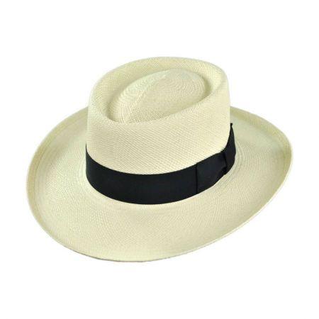 Pantropic Trinidad Panama Straw Gambler Hat