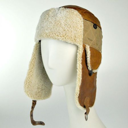 Bailey Granard Lambskin Leather Trapper Cap