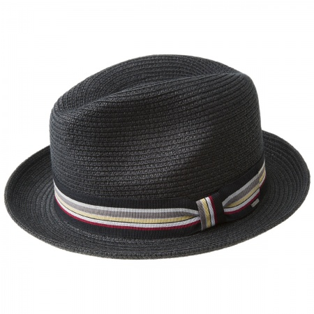 Salem Braided Toyo Straw Fedora Hat alternate view 14