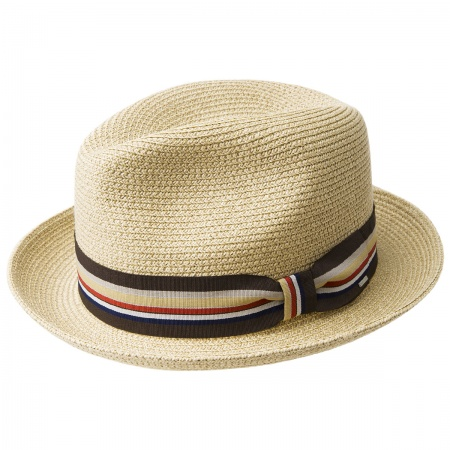 Salem Braided Toyo Straw Fedora Hat alternate view 4