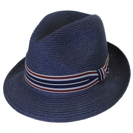 Salem Braided Toyo Straw Fedora Hat alternate view 12