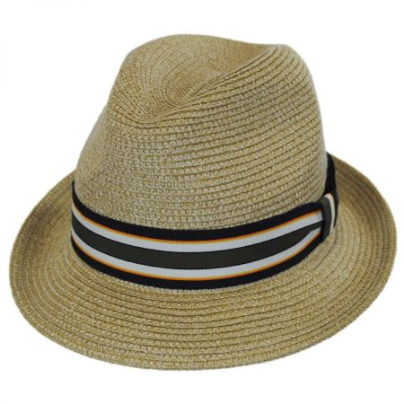 Salem Braided Toyo Straw Fedora Hat alternate view 16