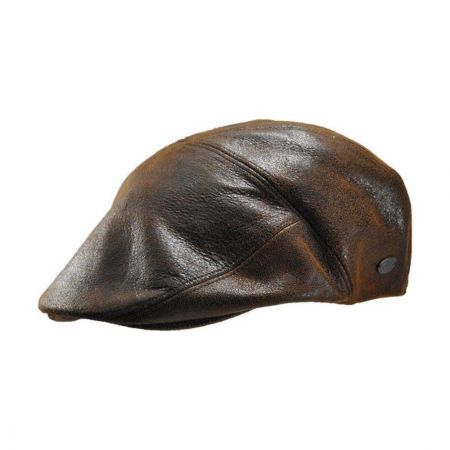 7b3bc063d4036 Leather Driving Cap at Village Hat Shop