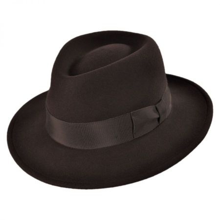 Wide Brim Brown Fedora at Village Hat Shop a0a590e3247