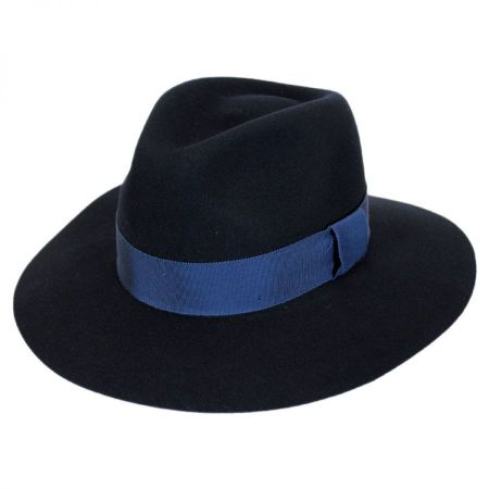 Women Navy Blue Fedora at Village Hat Shop 594037d7301