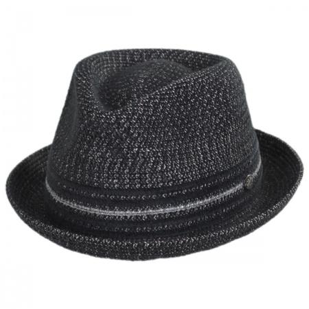 Vito Toyo Straw Braid Trilby Fedora Hat alternate view 1