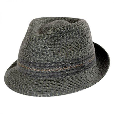 Vito Toyo Straw Braid Trilby Fedora Hat alternate view 2