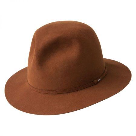 Bailey Antone Fur Felt Open Crown Fedora Hat