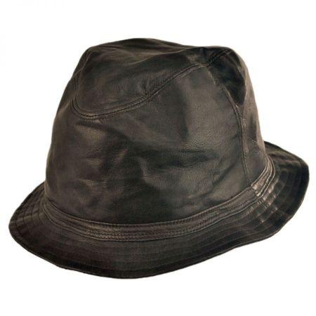 Bailey Mahlon Leather Bucket Hat