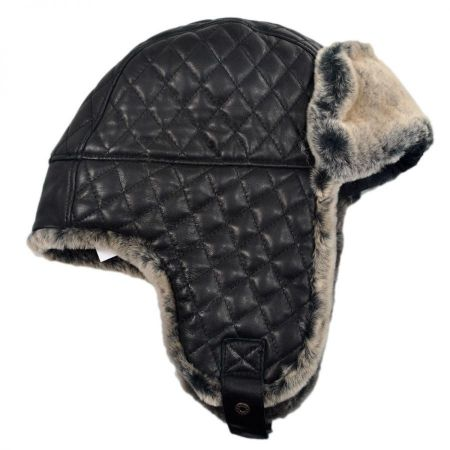 Dorsey Leather Trapper Hat alternate view 7