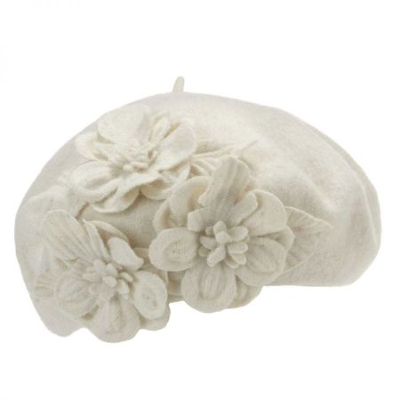 Flower Wool Beret alternate view 6