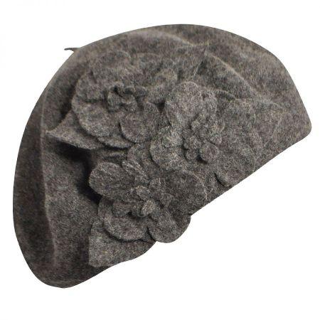 Betmar Flower Wool Beret