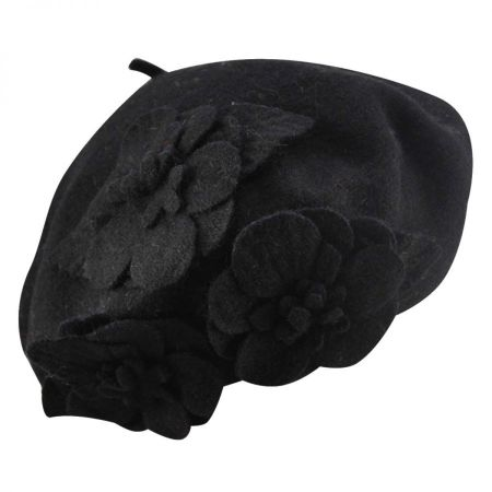 Betmar Flower Wool Beret