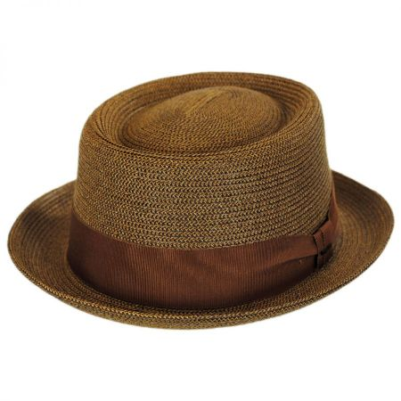 Bailey Waits Sewn Braid Straw Pork Pie Hat