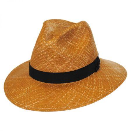 Blackburn Shantung LiteStraw Fedora Hat
