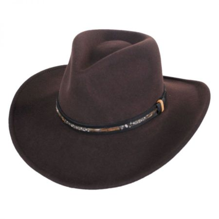 Recoil Crushable Wool LiteFelt Western Hat