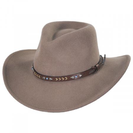Broken Arrow Wool Felt Western Hat