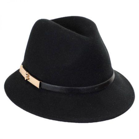 Darcy Wool Felt Fedora Hat