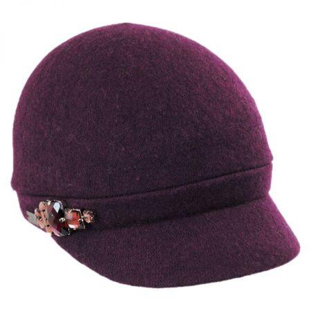 Rhinestone Wool Cap
