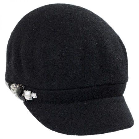 Betmar Rhinestone Wool Cap